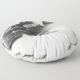 Death Drives Here Floor Pillow