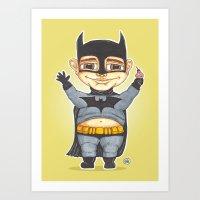 bats Art Prints featuring Bats by Shiny Superhero