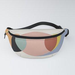Geometric Harmony - Vintage Rainbow Colors Fanny Pack