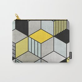Colorful Concrete Cubes 2 - Yellow, Blue, Grey Carry-All Pouch
