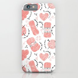Knitting love iPhone Case