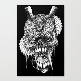 Tortured Skull Of Death Canvas Print