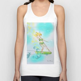 Green Goddess Surfer Gal Unisex Tank Top