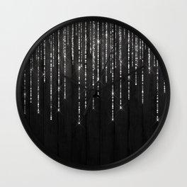 Fairy Lights on Wood 02 Wall Clock