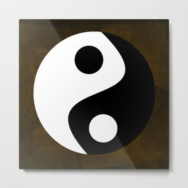Yin and Yang - Brown Metal Print