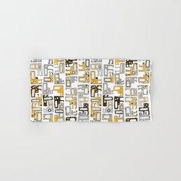 Tetris monsters yellow and grey Hand & Bath Towel