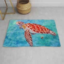 Sea turtle and friend Rug