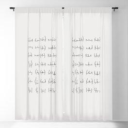 Line Art Nude Funny Butt Blackout Curtain