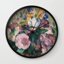 "Paul Cezanne ""Vase of Flowers"" Wall Clock"