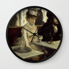 "Edgar Degas ""The Absinthe Drinker (Au Café, l'Absinthe)"" Wall Clock"