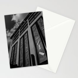 Charlotte 7th St Parking Black and White Stationery Cards