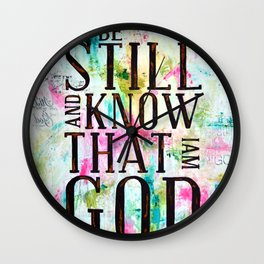 Psalm 46:10  Wall Clock