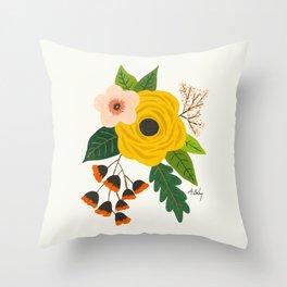 Folk Art Flowers No. 3 Throw Pillow