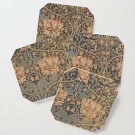 Honeysuckle by William Morris 1876,  Printed Linen, Vintage Pattern, CC0 Spring Summer Coaster