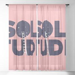 happy solitude Sheer Curtain
