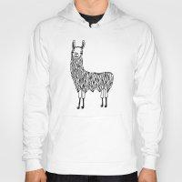 llama Hoodies featuring Llama by Lizzie Scott
