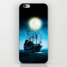 The Flying Dutchman Under The Moon - Painting Style iPhone & iPod Skin