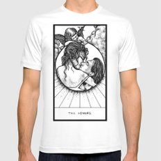 The Lovers Tarot White Mens Fitted Tee MEDIUM