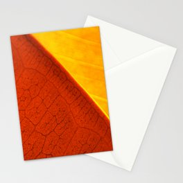 Contemporary Leaf Design, Version #4 Stationery Cards