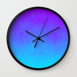 Blue and Purple Ombre - Swirly - Flipped Wall Clock