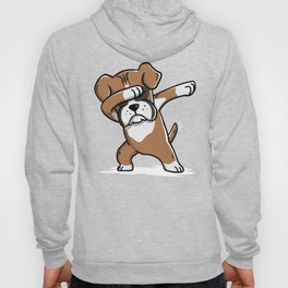 Funny Boxer Dog Dabbing Hoody