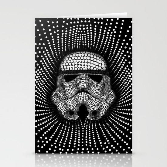 Trooper Star Circle Wars Stationery Cards