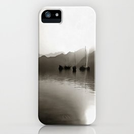 Gulets In Greyscale iPhone Case