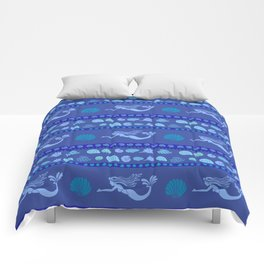 mermaid repeating pattern Comforters