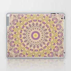 No. 8 Wisteria Lane Mandala Kaleidoscope -- Purple and Gold Laptop & iPad Skin