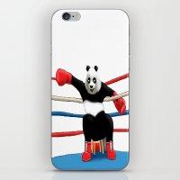 boxing iPhone & iPod Skins featuring Boxing Panda by Joker-laugh