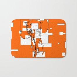 Orange is the New Elephant Bath Mat