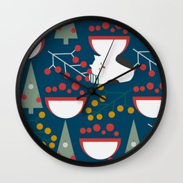 The red-nosed kitty Wall Clock