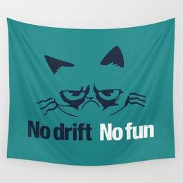 No drift No fun v2 HQvector Wall Tapestry