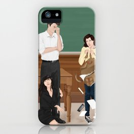 the professor, the pet and the frightened rabbit iPhone Case