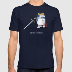 Rey Arturito (Spanish) Navy Mens Fitted Tee X-LARGE