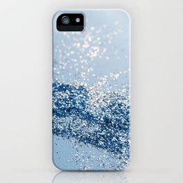 Sparkling Classic Blue Ocean Lady Glitter #1 (Faux Glitter) #shiny #decor #art #society6 iPhone Case