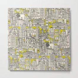 Hong Kong toile de jouy chartreuse Metal Print