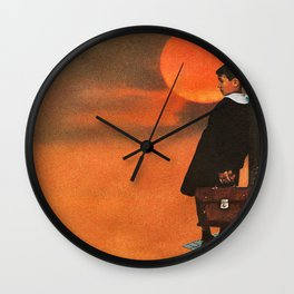 Solitude is Bliss Wall Clock