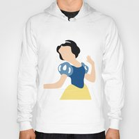 snow white Hoodies featuring Snow White by Adrian Mentus