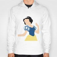 snow white Hoodies featuring Snow White by Adrian Mentus