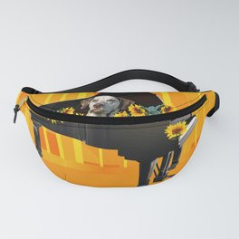 Piano with sunflowers and Dalmatian Fanny Pack