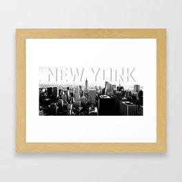 New York Black & White Sketch Framed Art Print