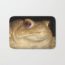 Close Up Portrait of A Common Toad Bath Mat