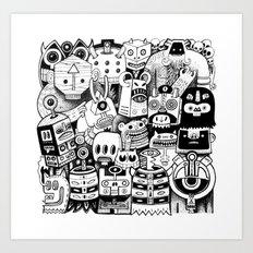 jour d'ironie au pays des masques Art Print