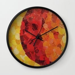 Red/Yellow Gradient Magazine Collage Wall Clock