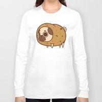 potato Long Sleeve T-shirts featuring Puglie Potato by Puglie Pug