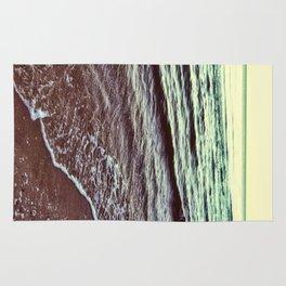 Green Ocean Waves Rug