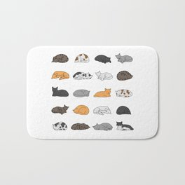 Kitty Cat Pattern Bath Mat