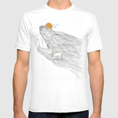 Howl River Mens Fitted Tee White SMALL