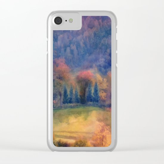 Fall landscape Clear iPhone Case